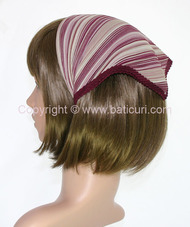 105-36 Italian pleated with two tone dense lines design- Maroon