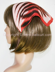 108-46 Italian pleated tiger design-Red