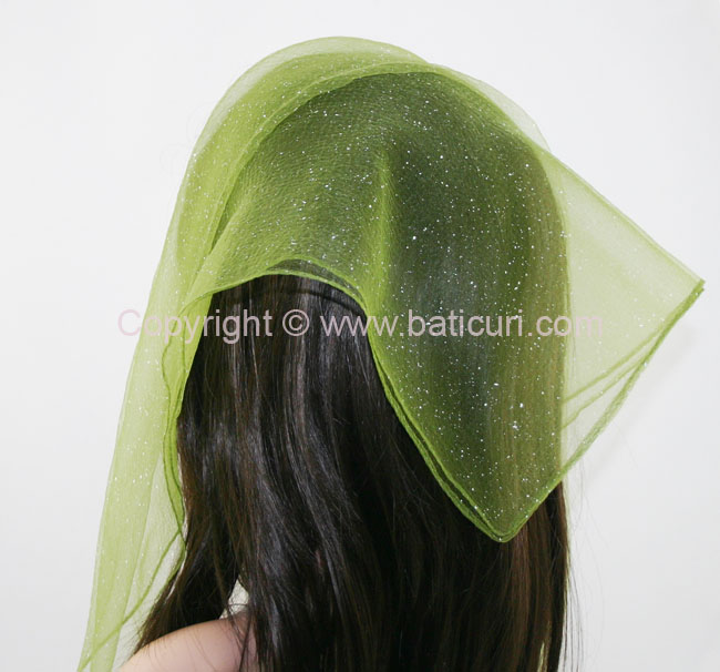 #06 SQ Solid snow flakes-Olive green with white
