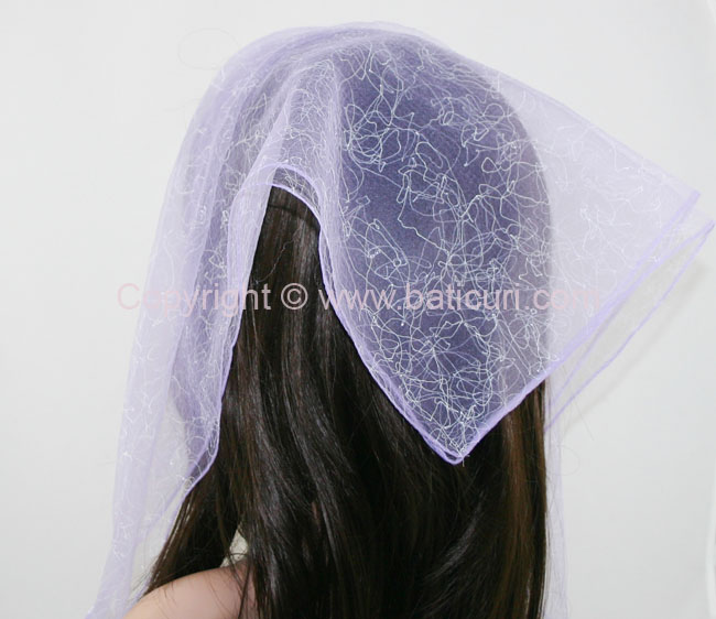#07 SQ Solid Spider web-Purple with white
