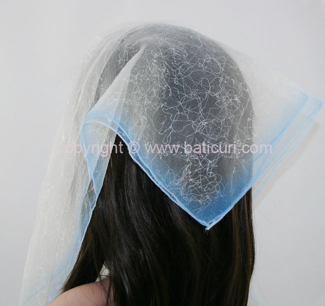 #07(Tt) SQ Two tone spider web-Light blue