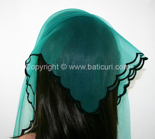 13-10 SQ Zig zag-Solid~ Turquoise/blk