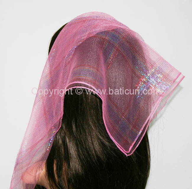 #15 SQ Nylon Rainbow Scarves-Pink