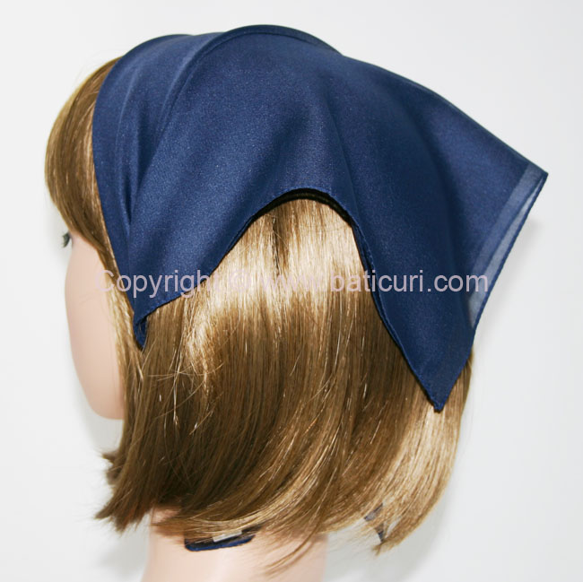 115-07 Small Polyester Italian Scarves -Navy blue