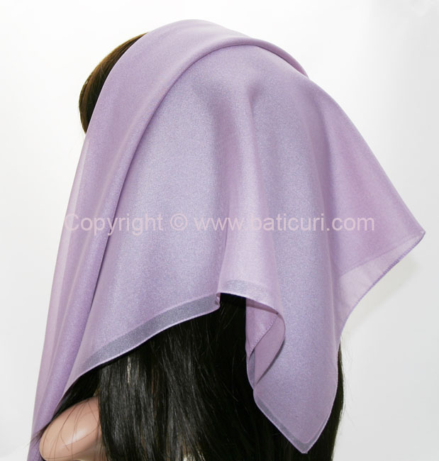 116-18 Large SQ Solid Polyester Italian Scarves -Dusty lt. purple