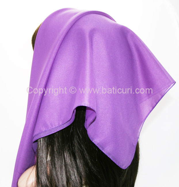 116-15 Large SQ Solid Polyester Italian Scarves -Dusty dk. purple