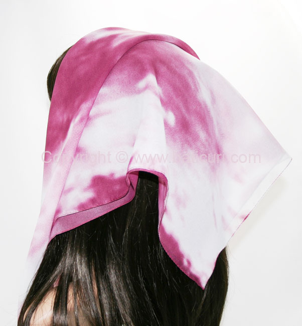 117-06 Large Polyester Ombre Italian Scarves -Ivory/dusty pink