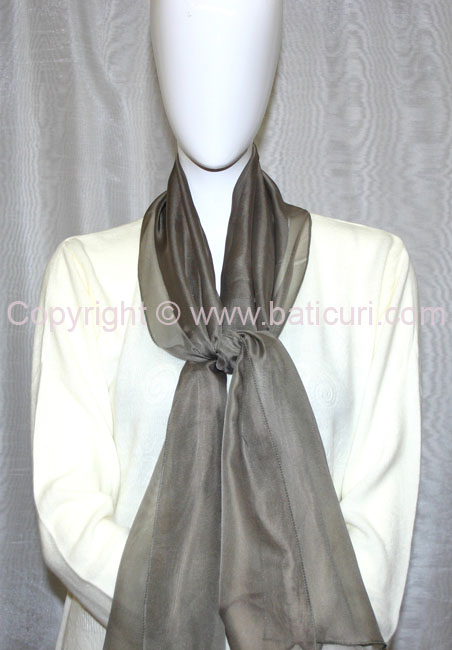 80-04 Sheer Oblong Wide Solid Scarves-Dk. Olive green
