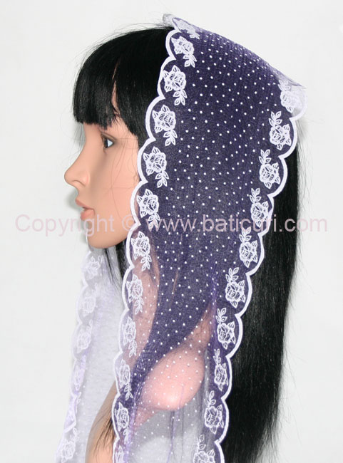 #28~ OB( S) Scarves with dots & zig zag edges~ Purple