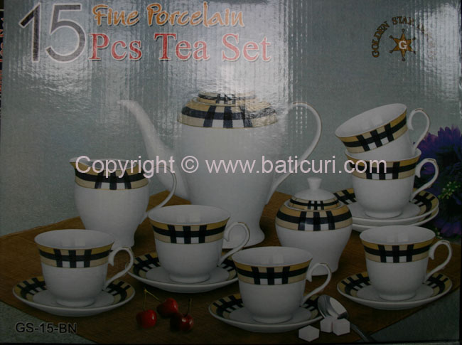 Plaid Tea/Coffee Set-(6 person-17pcs)