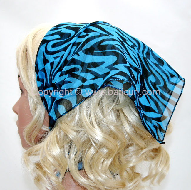 136-10 Blue - navy blue zebra design