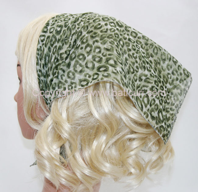 136-64 Leopard design green