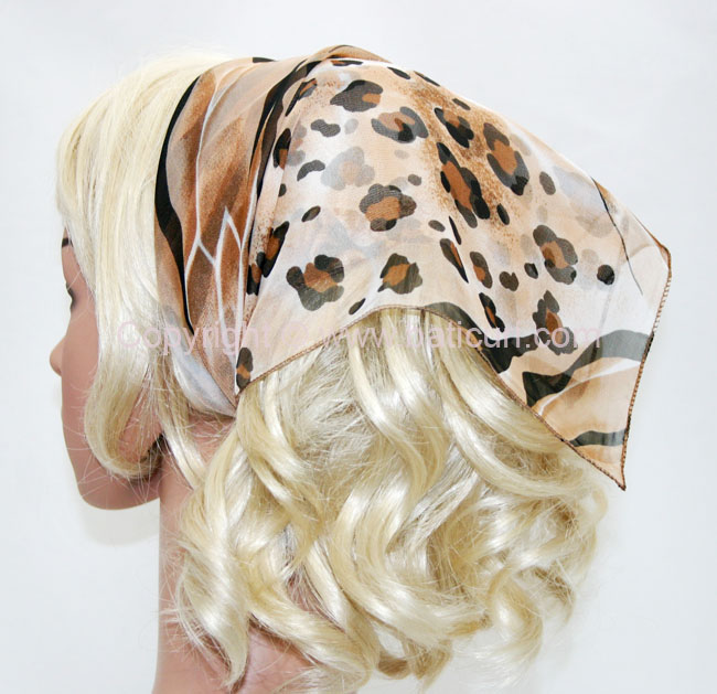 136-88 Blend of beige with leopard scalp design