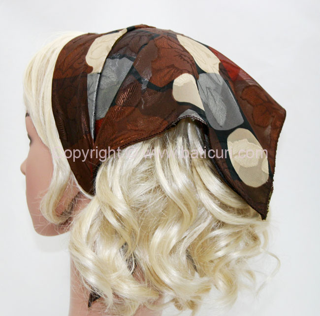 136-91 Brown & cream Mosaic Design
