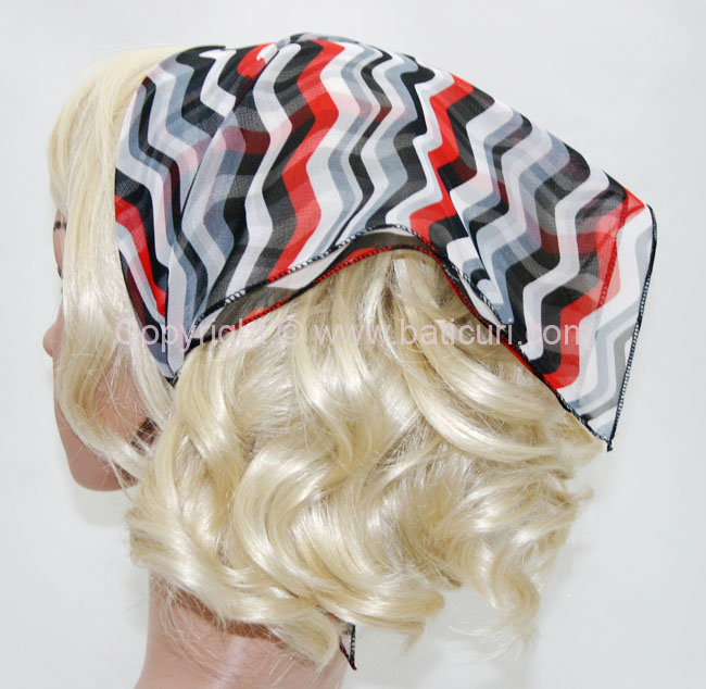 136-111 Black, White, and Red Striped Swirl design