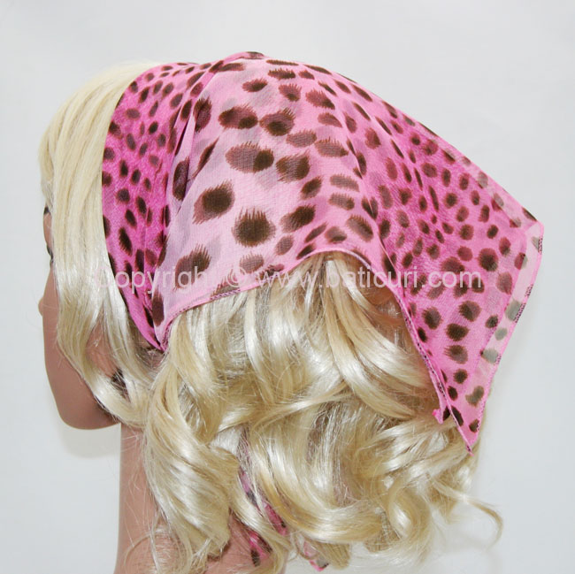 136-135 Light pink with leopard brown spots