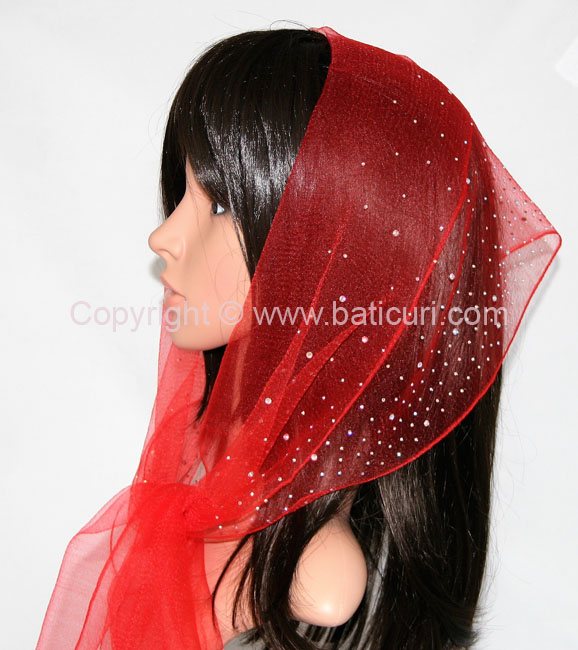 OB Nylon (W) Solid Waterfall Rhinestones- Red