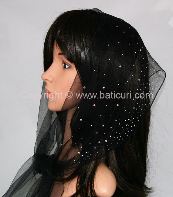 New! OB Nylon (W) Solid Waterfall Rhinestones-Black