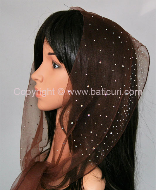 OB Nylon (W) Solid Waterfall Rhinestones- Brown