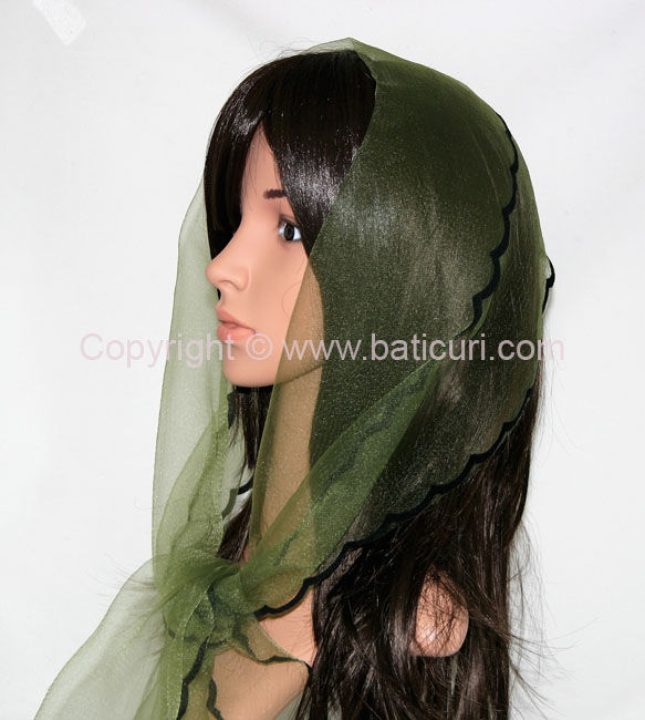 #22-04(W) OB Zig zag~Wide solid~Olive green/black