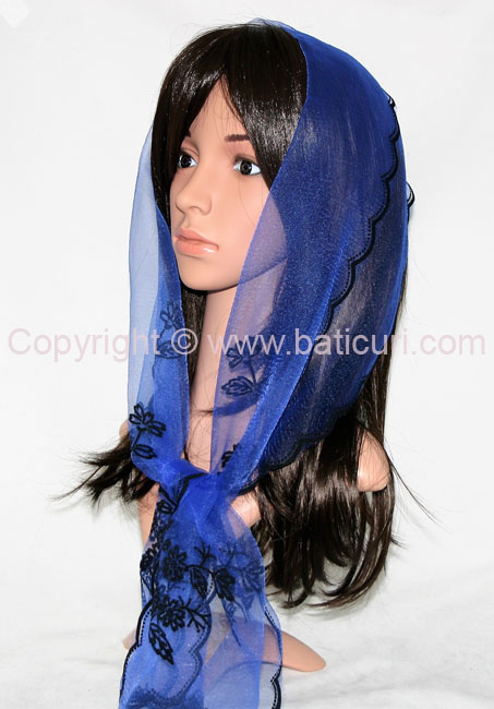 #27-04 OB Zig zag-Corner bouquet~Royal blue