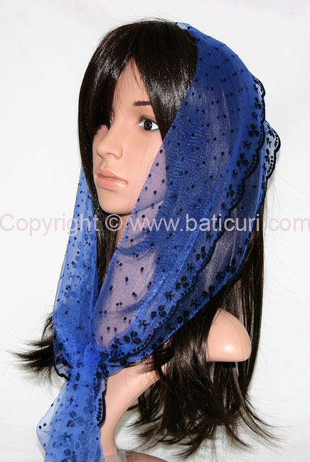 #24-01 OB Zig zag-Small dots & dotted border~Royal blue/black