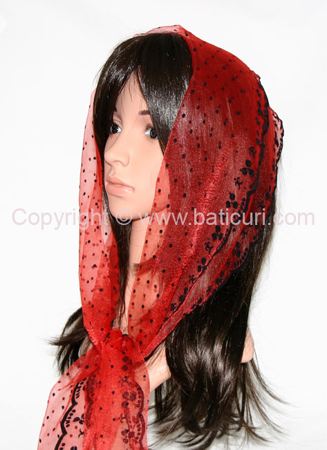 #24-02 OB Zig zag- Small dots & dotted border~ Red/black