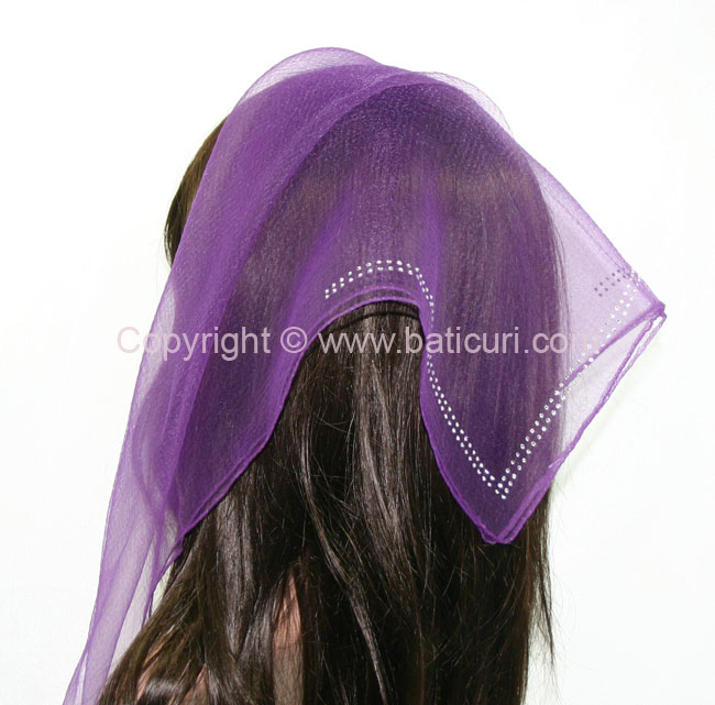 SQ Solid Rhinestone Double line- Plum