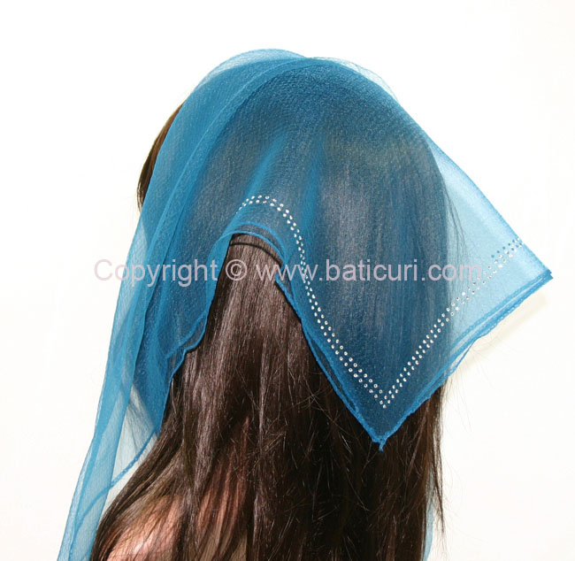 SQ Solid Rhinestone Double line- Sea blue