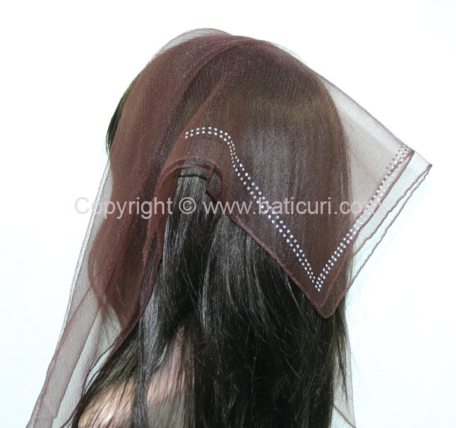 SQ Solid Rhinestone Double line- Dark brown