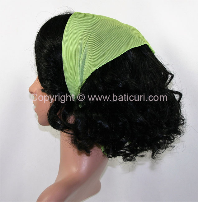 Pleated Solid Scarves-Lime Green