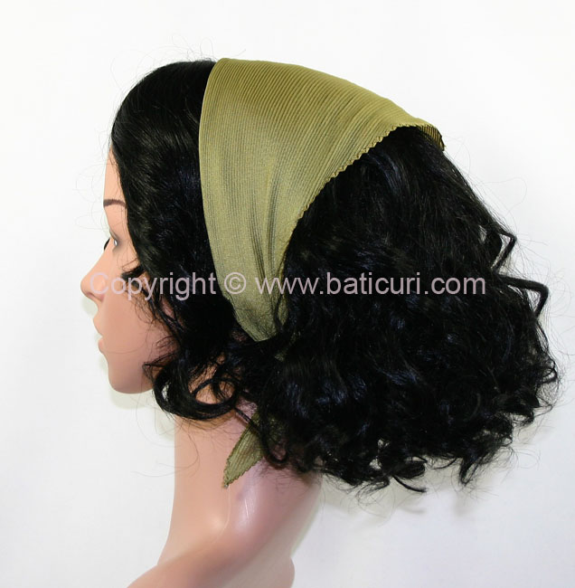 Pleated Solid Scarves- Olive Green