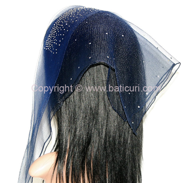 New! Lia- Cloud Front and Back Scattered Rhinestones-Navy/Black