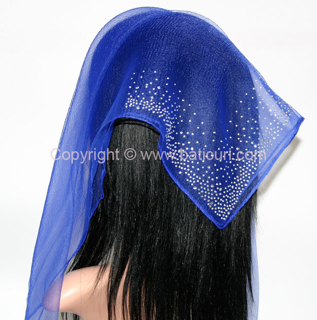 SQ Solid Rhinestone Waterfall Corner- Royal blue