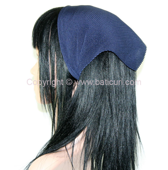 Pleated Italian- Midnight Navy