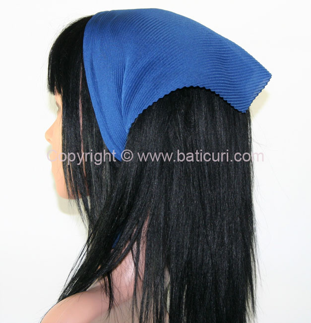 Pleated Italian- Dusty Royal Blue