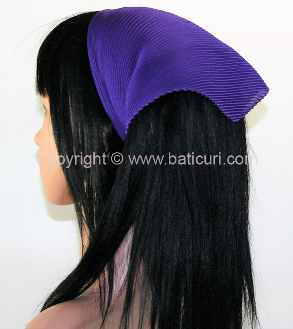Pleated Italian- Dark Purple