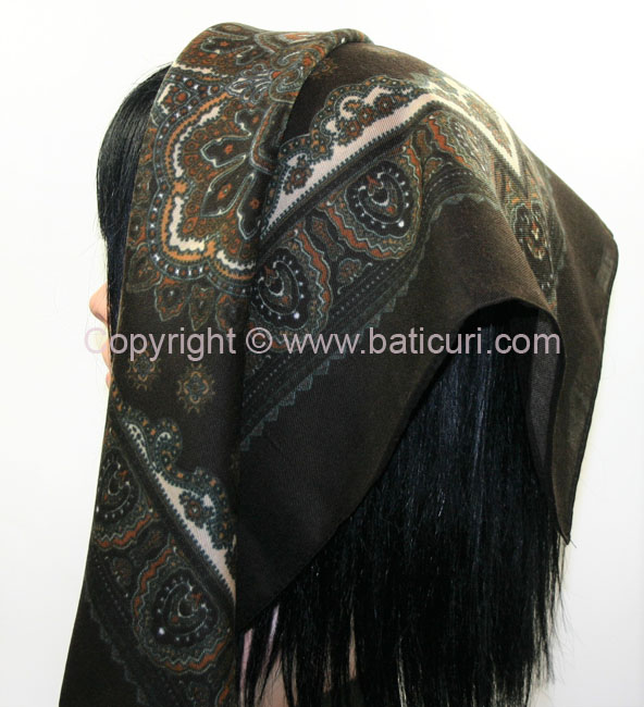 """Acrylic Turkish Pattern"" Brown/beige"