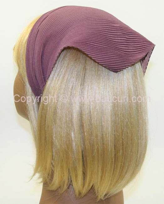 100-73 Italian Pleated Solid Scarves- Mauve
