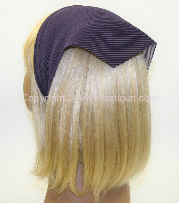 100-81 Italian Pleated Solid Scarves- Dk. Ash Violet