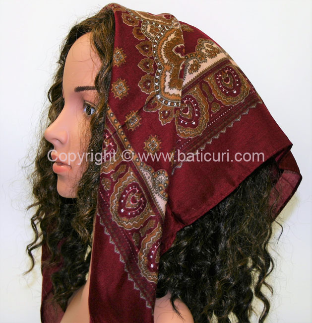 """Acrylic Turkish Pattern"" Maroon"