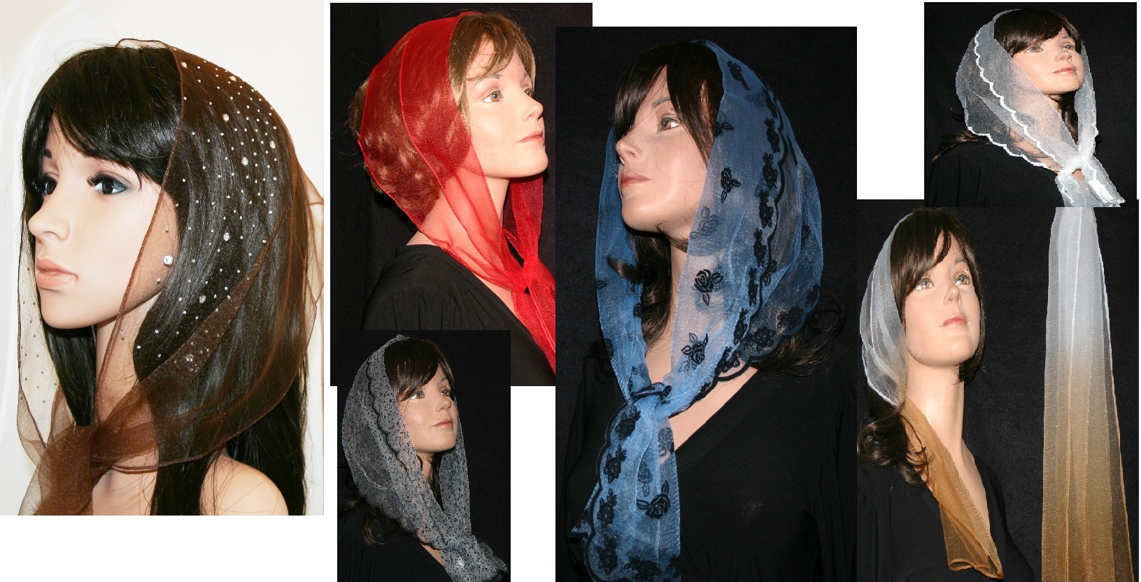 Nylon Oblong Scarves