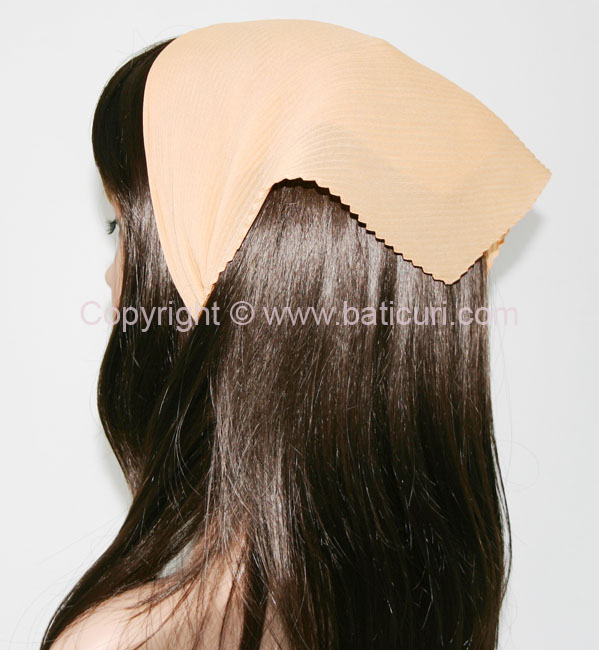 Italian Pleated Solid Scarves -Apricot