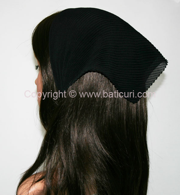 Italian Pleated Solid Scarves -Black