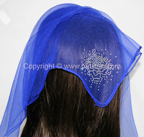 SQ Solid Rhinestone Blooming Rose- Royal blue