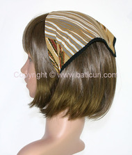 106-42 Italian pleated with mixt lines design-Beige