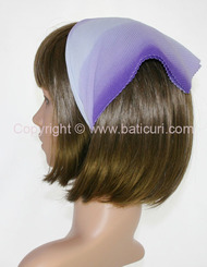 110-57 Italian pleated cloud design-Purple/white/lt. purple