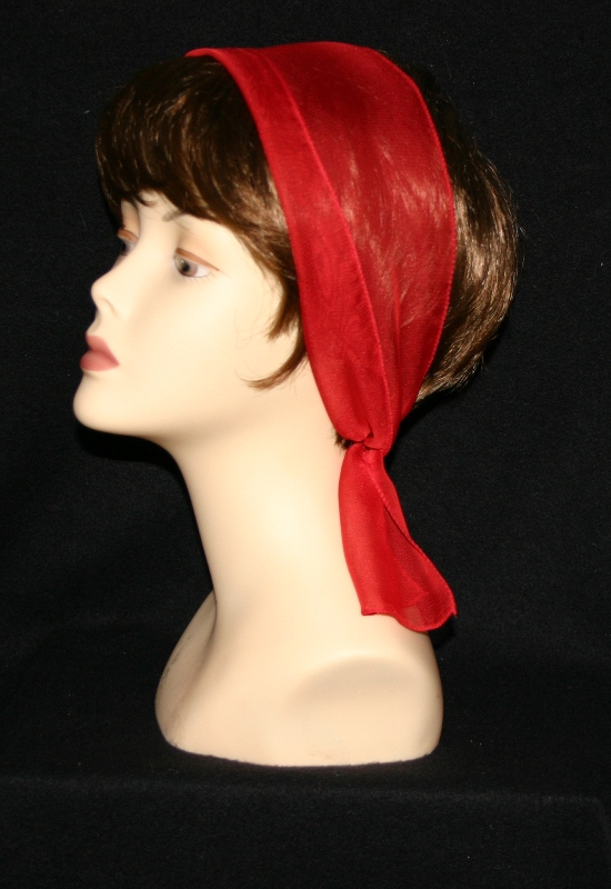 Small Oblong polyester scarves-Red
