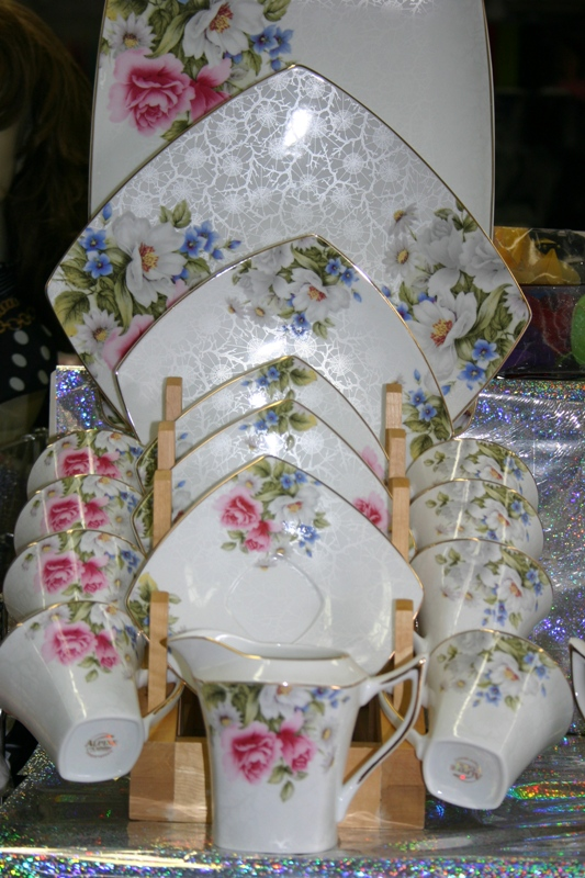 Dinner Set-White with colorful flowers design (8 person-49 pcs)
