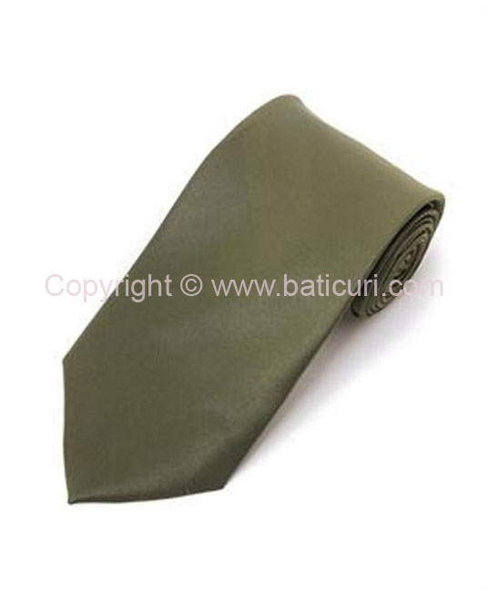 Tie~Olive green